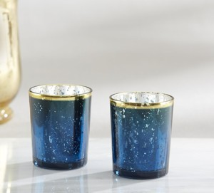 Blue Candle Holder Wedding Event