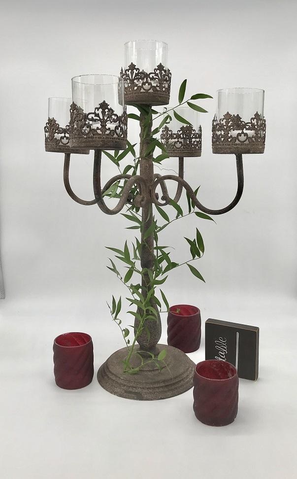 Candelabra GOT Rustic Centerpiece Rental