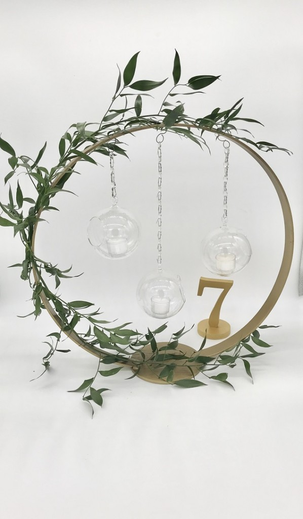 Gold Centerpiece Hoop Candle Rental Ohio