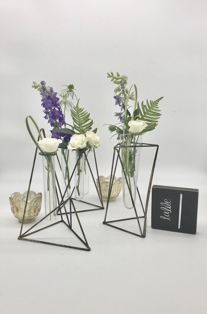 Test Tube Vase Flower Centerpiece Rental Ohio