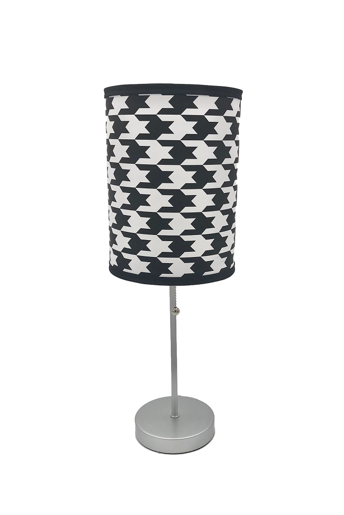 Lamp Bar Houndstooth Black White Wedding