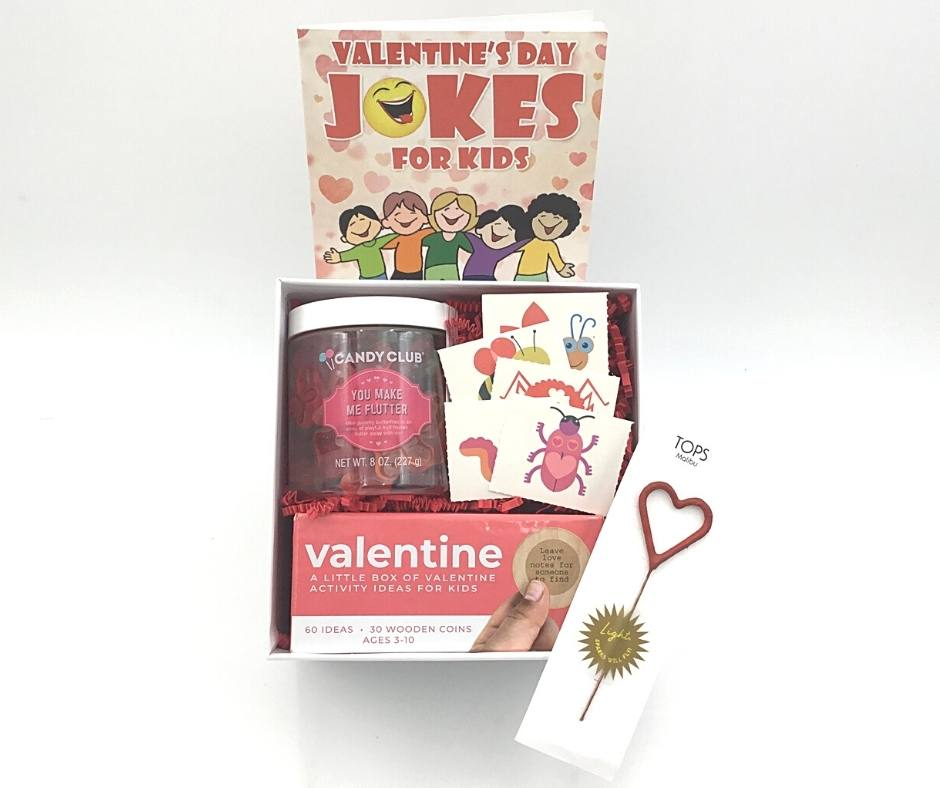 valentine kid kids gift box present candy sparklers toys