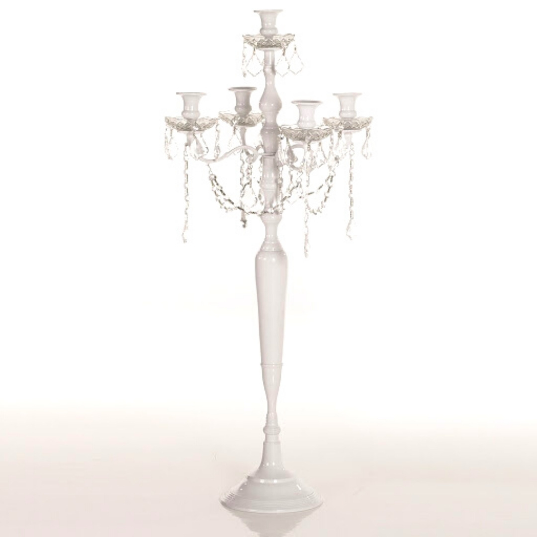 event decor rental candle holder crystal wedding centerpiece chandelier
