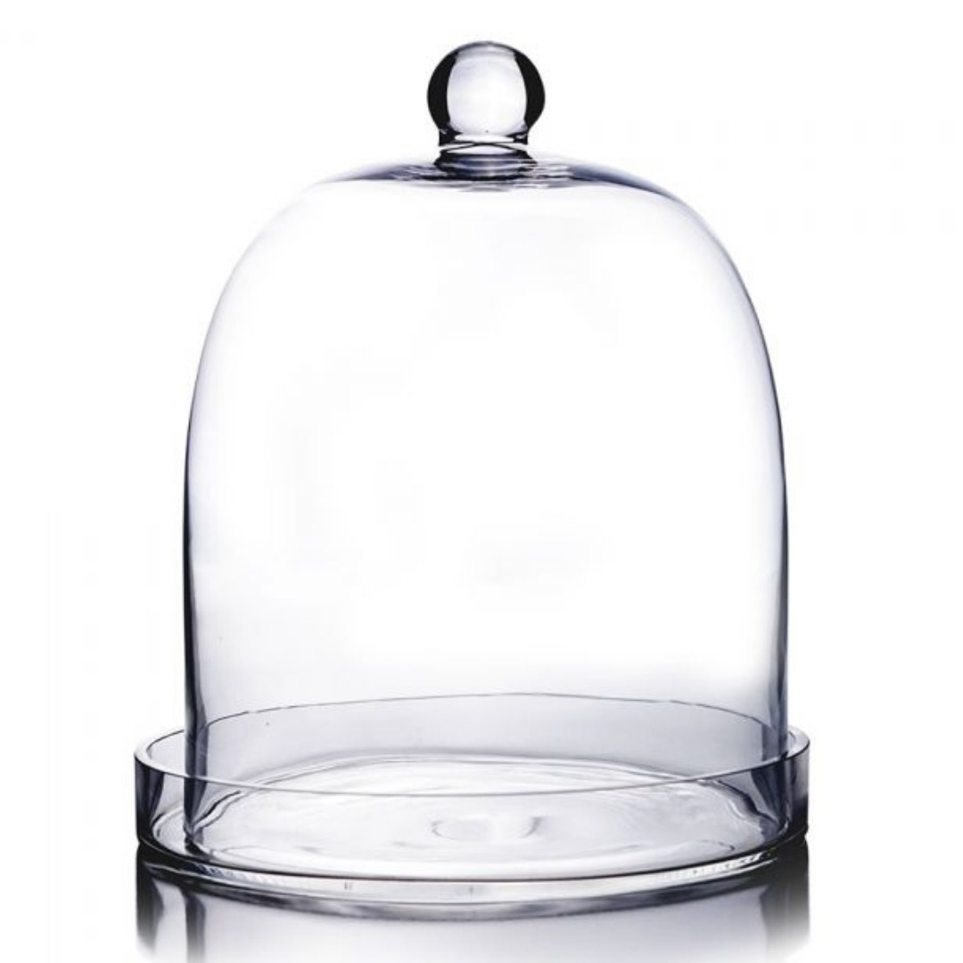 event decor rental glass bell jar cover wedding centerpiece