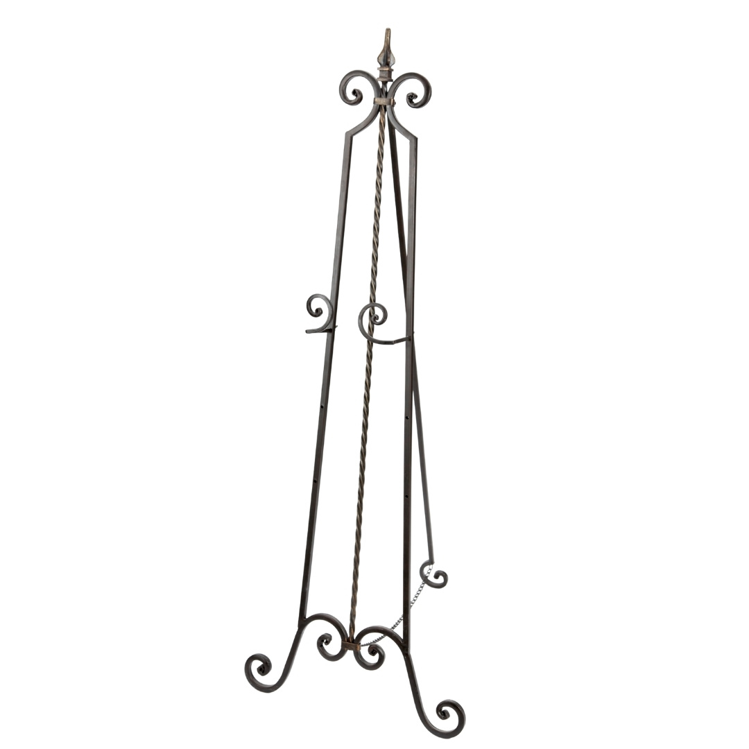 event decor rental sign display wrought iron black wedding