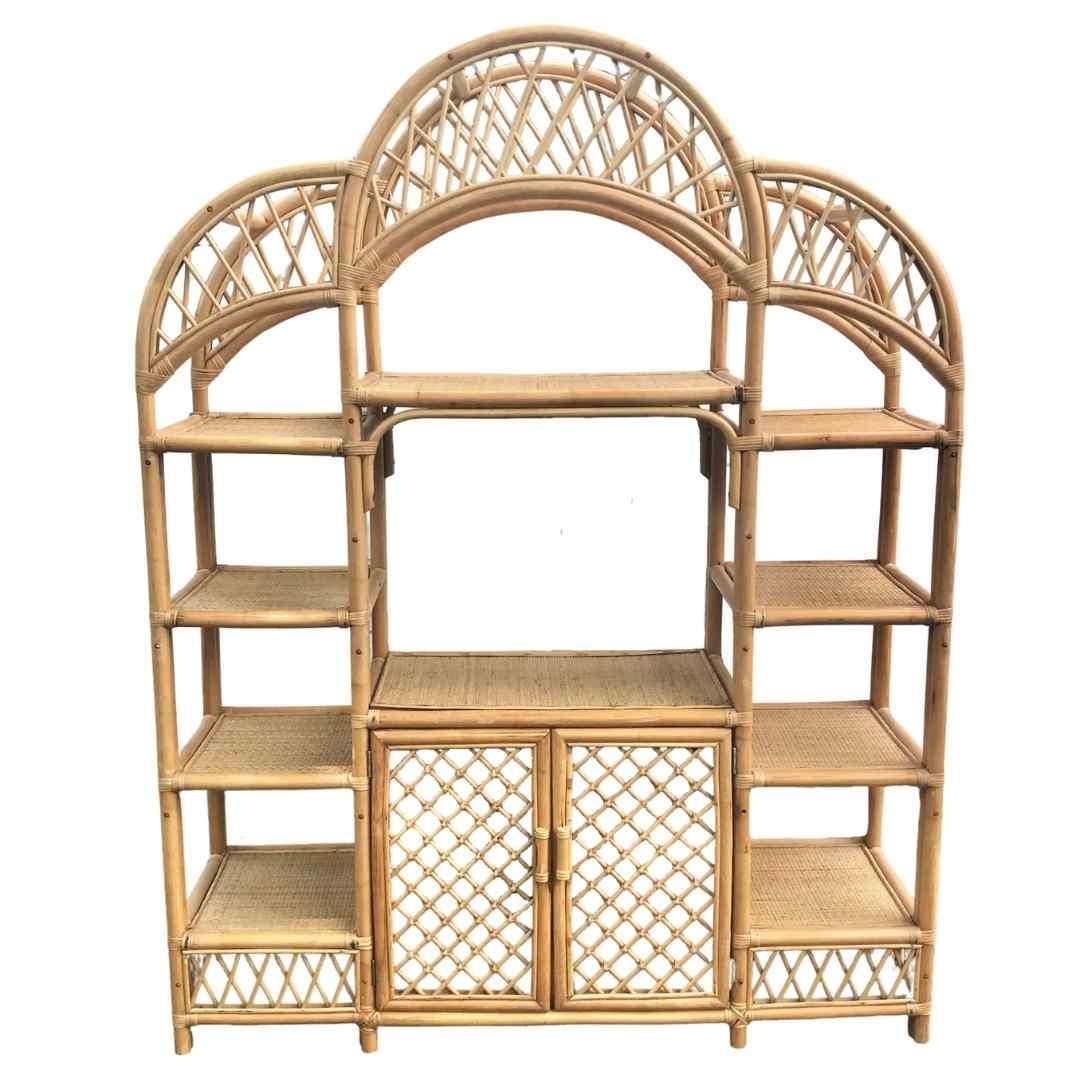 event decor rental shelves wicker mcm bookshelf bar wedding reception lounge