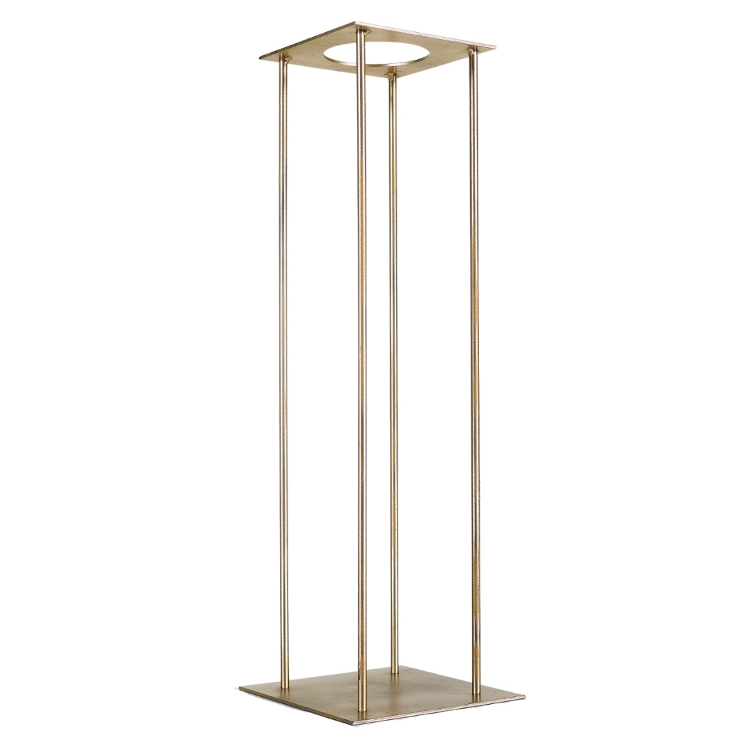 event decor rental brass bronze vase pedestal flower floral wedding centerpiece